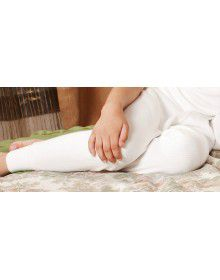 Kids Merino Wool Long John Cream