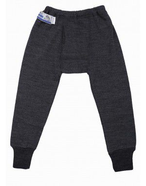 Baby Merino Wool Long John Dark Grey