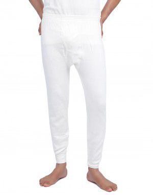 Men Plus Size Cotton Long John Cream
