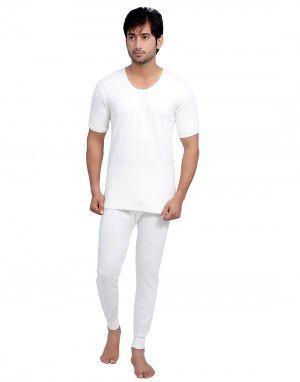 Men HS Cotton Body warmers Set White