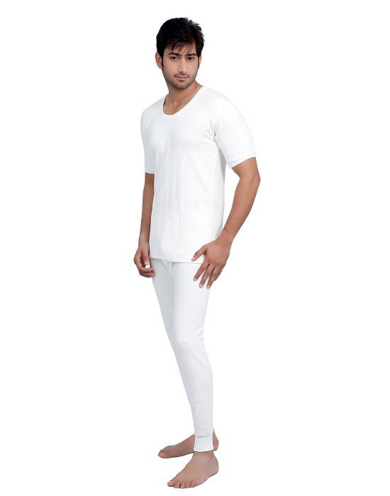 Men HS Cotton Body warmers Set White