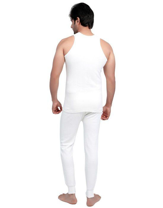 Men SL Cotton Vest Body warmers Set White