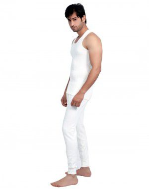 Men SL Cotton Vest Body warmers Set White