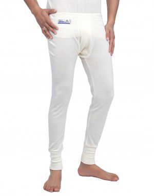 Merino Wool Mens Long John Cream