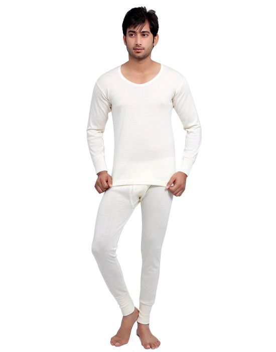 Mens merino Wool FS thermal Set Cream