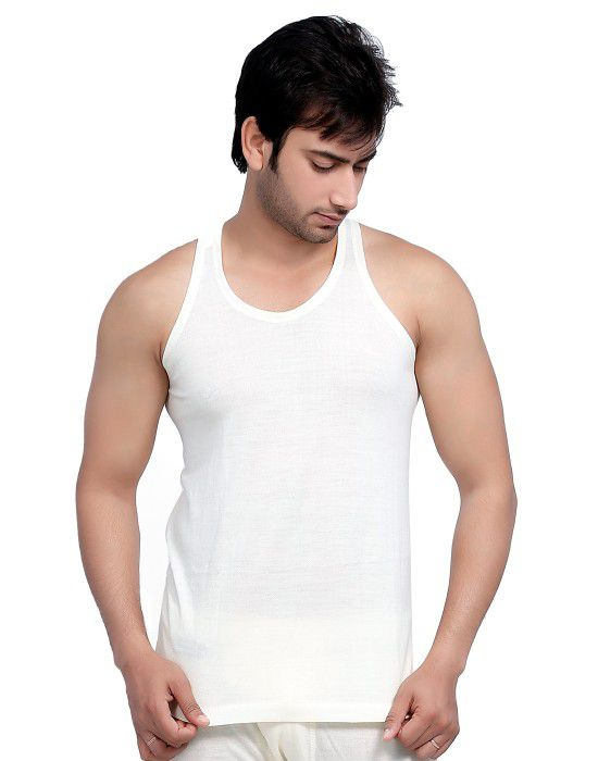 Mens Merino Wool Vest SL Body warmers Cream