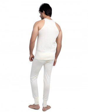 Mens SL Merino Wool Thermals Set Cream