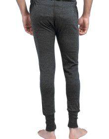 Merino Wool Mens Long John Dark Grey