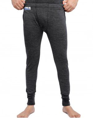 Merino Wool Mens Long John Dark Grey