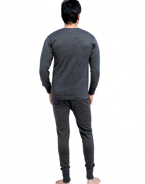 Mens FS merino Wool Dark Grey thermal Set