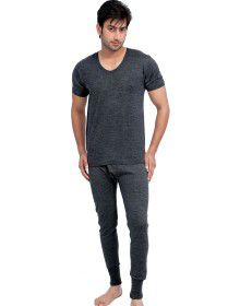 Mens HS Dark Grey merino Wool Thermals Set