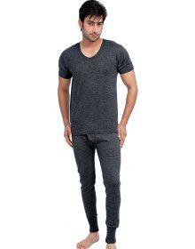 Mens HS Dark Grey merino Wool Thermals Set
