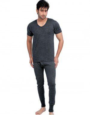 296e9adf9 Mens HS Dark Grey merino Wool Thermals Set