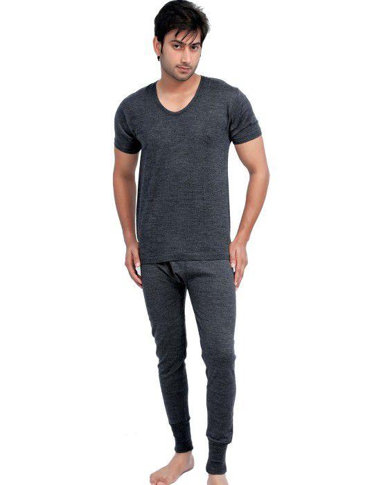 ebcc35ec4d5 Shop Mens HS Dark Grey merino Wool Thermals Set at Woollen Wear