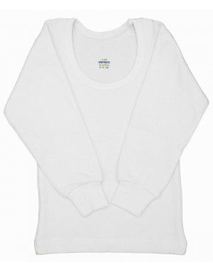 Toddlers Cotton FS Thermal Body Warmers White