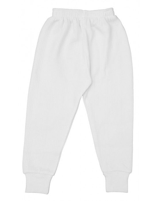 Toddlers Cotton Long John White Color