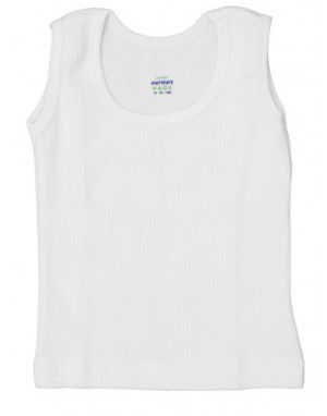 Toddlers Cotton Vest SL Body warmers White