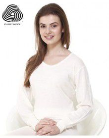 Women Pure Wool Rib Blouse Full Sleeve Body warmers