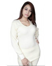 Women Merino Wool FS Vest Type thermal Cream