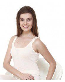 Women Merino wool SL Blouse Type Thermal Cream