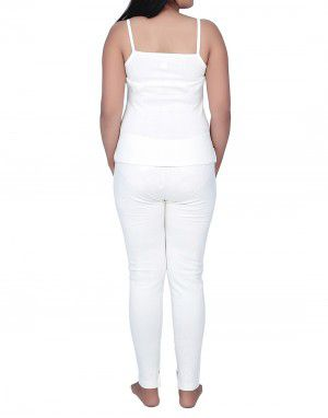 Women Cotton Camisole warmers set White