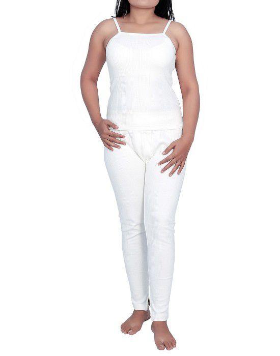 Women Cotton Camisole warmers set White