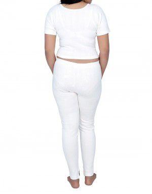 Women Cotton warmers HS Set Blouse Type White