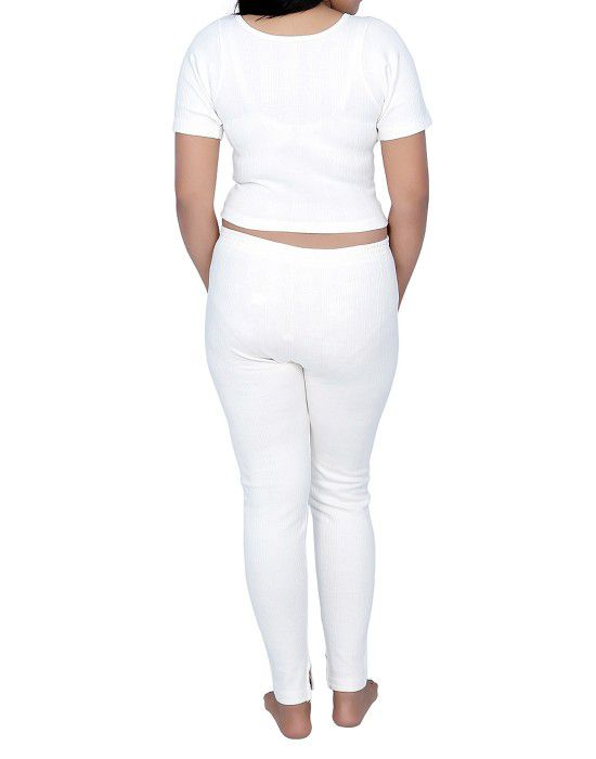 Women Cotton warmers HS Set Blouse Type White