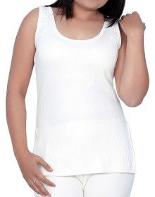 Woman Cotton warmer Slip Type White