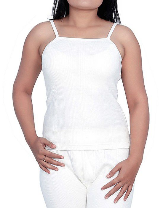 Woman Cotton Camisole Body warmers White