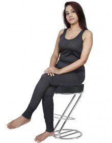 Women Merino wool SL Blouse Type Thermal Set Dark Grey