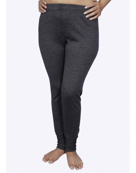Women Merino wool Drawer Thermal Dark Grey