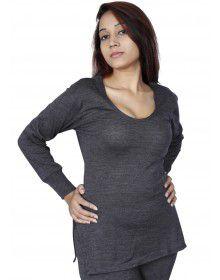 Women Purewool FS Slip Type Thermal Dark Grey