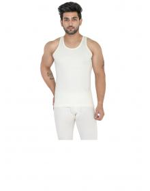 Mens Woolblend Vest SL Body warmers Cream