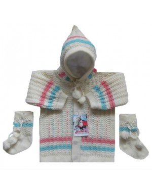 Baba Suit With Hood and Bootie Cream