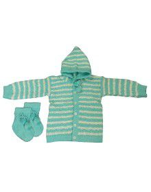 Baba Suit With Self Design Skyblue