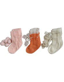 Baby Acrylic Wool Socks Pack of 3