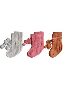 Baby acrylic wool socks p3