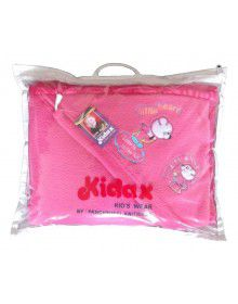 Winter Woollen Blanket for Infants with hood Pink