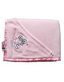 Winter Blankets for Infants With Pink Hood