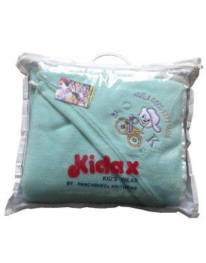 Winter Blankets for Infants with hood Aqua Blue