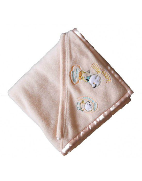 Winter Blanket for Infants cartoon Cream