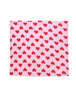 Winter Blanket for Infants heart printed baby pink