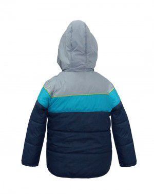 Baby boy winter jacket big stripes Navy