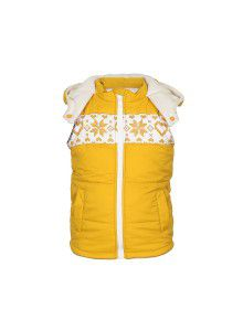 Toddlers Girls Quilted Sleeveless Jacket Yellow
