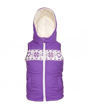 Toddlers Girls Quilted Sleeveless Jacket Purple
