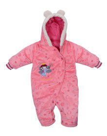 Toddlers Front Open Single Piece Suit Peach Color