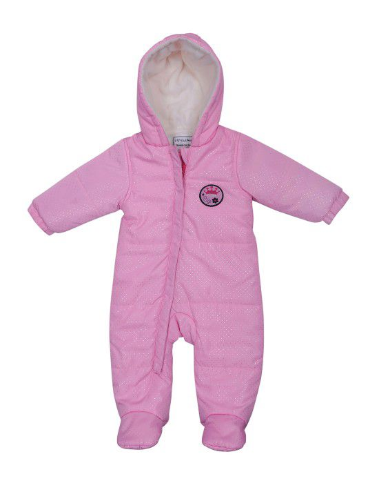 Toddlers Front Open Single Piece Suit Pink with shoes