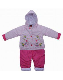 Baby Hooded Two Piece Suit 2 Pink