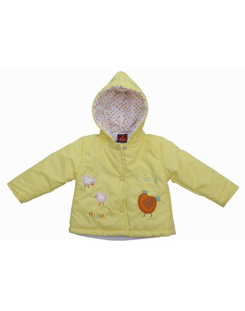 Baby Hooded Two Piece Suit 5 Lemon Yellow